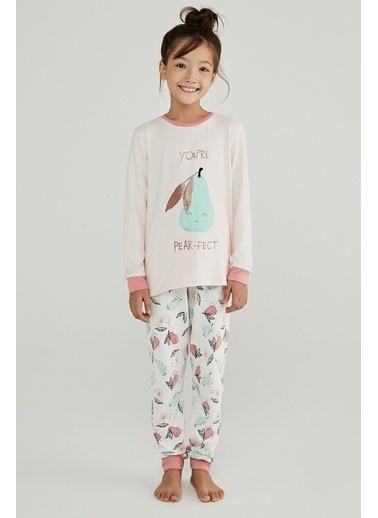 Penti İnci Kız Çocuk Pear Termal 2Li Pijama Takımı Beyaz